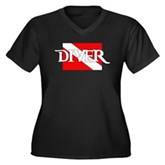 Pirate-style Diver Flag Women's Plus Size V-Neck D