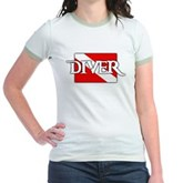 Pirate-style Diver Flag Jr. Ringer T-Shirt
