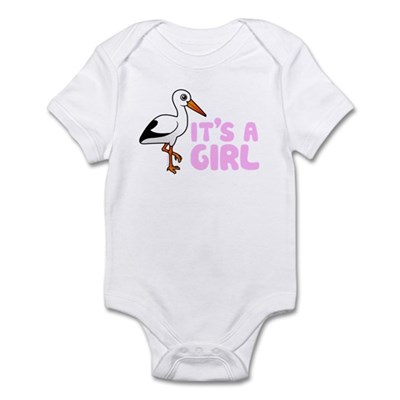 Cute Stork It's a Girl Infant Bodysuit