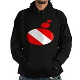Thought Bubble Dive Flag Hoodie (dark)