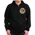 Paws for the Cure: Leukemia Zip Hoodie (dark)