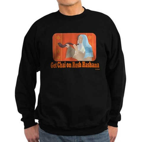 Get Chai On Rosh Hashanah Sweatshirt (dark)