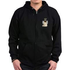 Holy Kitty Zip Hoodie (dark)