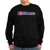 I Love Obama Sweatshirt (dark)
