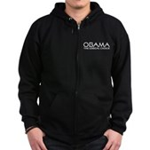 Logical Obama Zip Hoodie (dark)