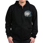 Where's My Quarter? Zip Hoodie (dark)