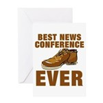 Anti-Bush Shoe News Conf. Greeting Card
