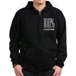 100% Over Him Zip Hoodie (dark)