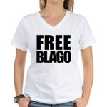 Free Illinois Governor Blagojevich, he's innocent! Women's V-Neck T-Shirt