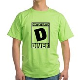 Rated D: Diver Green T-Shirt