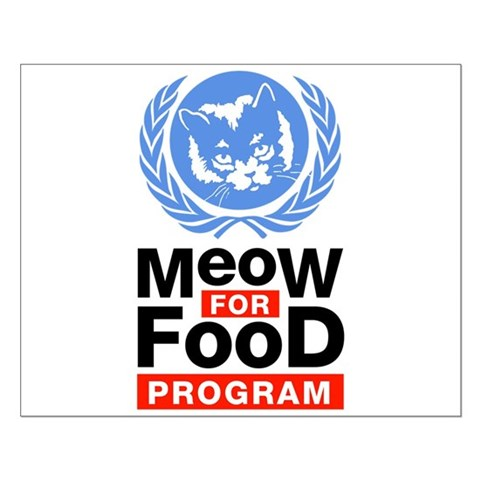Meow For Food Program Small Poster