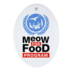 Meow For Food Program Ornament (Oval)