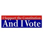 I Support the Constitution Bumper Sticker