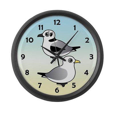 Black-legged Kittiwakes Large Wall Clock