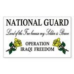 National Guard Soldier is Brave Sticker (Rectangul