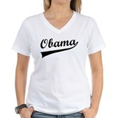 Obama Swish Women's V-Neck T-Shirt