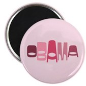 This vintage-look design in shades of red & pink reads Obama in a stylish font in an oval shape. This is a great, unique design for anyone that supports our 44th American President, Barack Obama.