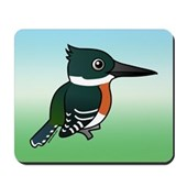 Green Kingfisher Mousepad