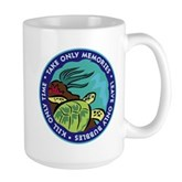Take Only Memories (turtle) Large Mug