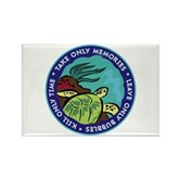 Take Only Memories (turtle) Rectangle Magnet