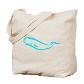 Stylized Sperm Whale Tote Bag