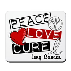 PEACE LOVE CURE Lung Cancer Mousepad