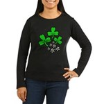Irish Shamrocks Women's Long Sleeve Dark T-Shirt