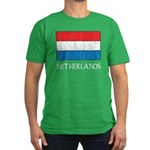 Netherlands Flag Men's Fitted T-Shirt (dark)