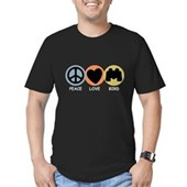 Peace Love Bird Men's Fitted T-Shirt (dark)