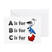 B is for Birdorable Greeting Card