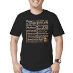 Shakespeare Insults T-shirts & Gifts Men's Fitted T-Shirt (dark)