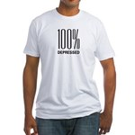 100 Percent Depressed Fitted T-Shirt