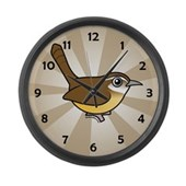 Birdorable Carolina Wren Large Wall Clock