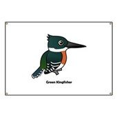Green Kingfisher Banner