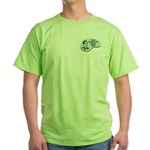 Green T-Shirt : Sizes Small,Medium,Large,X-Large,2X-Large  Available colors: Green