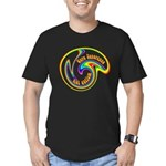 Cure Ignorance (Rainbow) Men's Fitted T-Shirt (dar