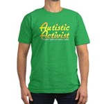 Autistic Activist (Gold) Men's Fitted T-Shirt (dar