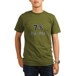 7% Fat Free T-Shirts & Gifts Organic Men's T-Shirt (dark)