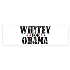 Whitey For Obama Sticker (Bumper)