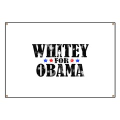 Whitey For Obama Banner