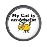 My Cat Is An Atheist Wall Clock