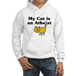 My Cat Is An Atheist Hooded Sweatshirt