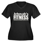 Jehovah's Fitness Women's Plus Size V-Neck Dark T-Shirt