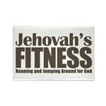 Jehovah's Fitness Rectangle Magnet