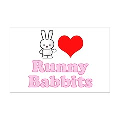 I Love Runny Babbits Mini Poster Print