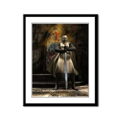 Knight Templar Framed Panel Print