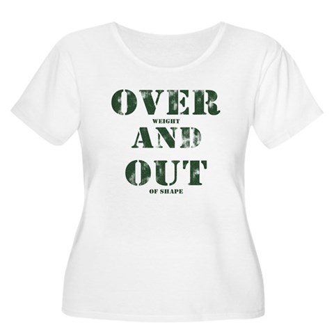 Over & Out Women's Plus Size Scoop Neck T-Shirt
