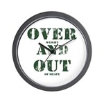 Over & Out Wall Clock