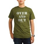 Over & Out Organic Men's T-Shirt (dark)