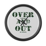 Over & Out Large Wall Clock